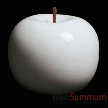 Pomme blanche brillant glacé Bull Stein - diam. 10,5 cm indoor