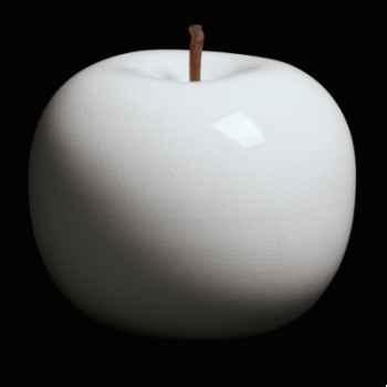 Pomme blanche brillant glacé Bull Stein - diam. 20 cm indoor