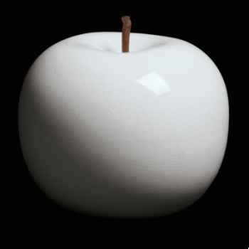 Pomme blanche brillant glacé Bull Stein - diam. 95 cm indoor