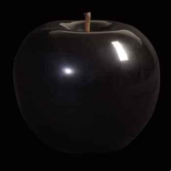 Pomme noire brillant glacé Bull Stein - diam. 10,5 cm indoor