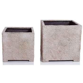 Vases-Modèle Cube Planter Medium, surface grès-bs3320sa