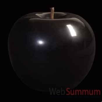Pomme noire brillant glacé Bull Stein - diam. 59 cm indoor
