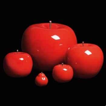 Pomme rouge brillant glacé Bull Stein - diam. 10,5 cm indoor