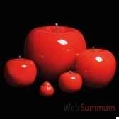 pomme rouge brillant glace bulstein diam 39 cm indoor