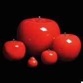 pomme rouge brillant glace bulstein diam 75 cm indoor