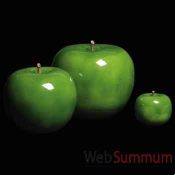 Pomme verte brillant glacé Bull Stein - diam. 10,5 cm indoor