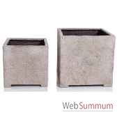 vases modele cube planter medium surface granite bs3320gry
