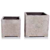 vases modele cube planter smalsurface granite bs3319gry