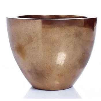 Vases-Modèle Karan Bowl, surface aluminium-bs3309alu
