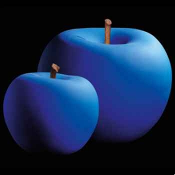 Pomme bleue lapis lazuli beu Bull Stein - diam. 20 cm indoor
