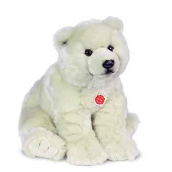 Peluche Hermann Teddy Collection Ours Blanc Assis 70 cm -91531 7