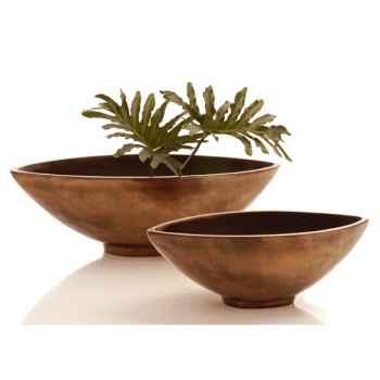 Vases-Modèle Mata Bowl Large, surface bronze nouveau-bs3266nb