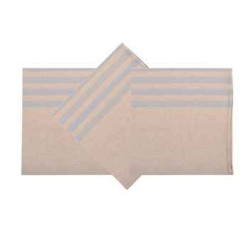 Serviette ourlée - 50x50 Lot de 6 Arette 70% coton et 30% lin Artiga Hivers -arti10356