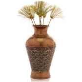 vases modele ginko vase surface bronze avec vert de gris bs3263vb