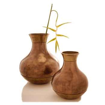 Vases-Modèle Perla Jar, surface bronze nouveau-bs3261nb
