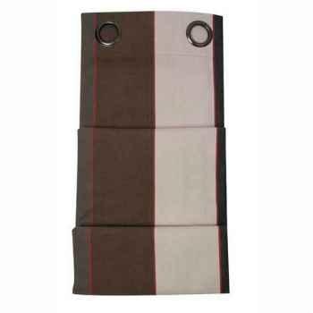 Rideau œillets (x8) prêt à poser 155x300 arpagnon 100% coton Artiga Hivers -arti10067