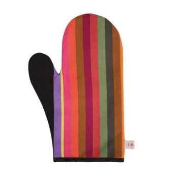 Moufle œillet - ht 29 cm Lot de 2 Mauleon noir 100% coton Artiga Hivers -arti10349