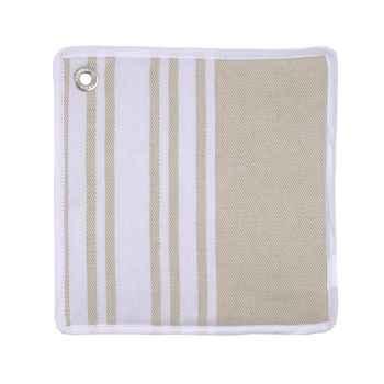 Manique carré - 22x22 Lot de 4 Corda Métis blanc 70% coton 30% lin Artiga Hivers -arti10299