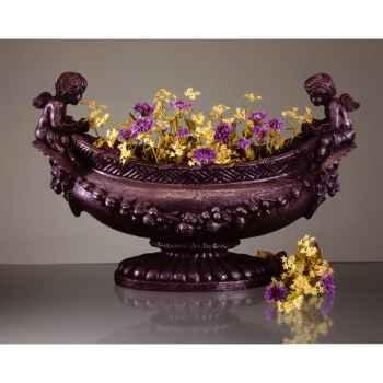 Vases-Modèle Cherub Oval Bowl,  surface granite-bs3063gry
