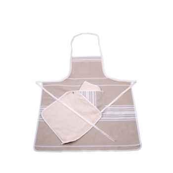 Tablier Chef 2 carrés éponge Corda Métis blanc 70% coton 30% lin Artiga Hivers -arti10303