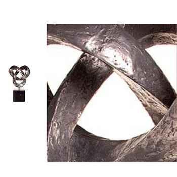 Sculpture Trifoil avec socle Berdeco -BS1731ALU/IRO