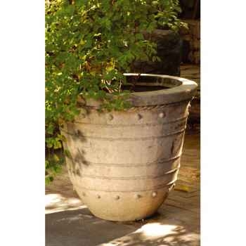 Vases-Modèle Bali Planter Giant,  surface granite-bs3043gry