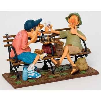 Figurine Partie d\'échecs à Central Park New York Forchino -FO85702