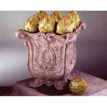 Vases-Modèle Hereford Planter, surface marbre vieilli-bs3036ww