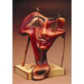 figurine artistique salvador dali autoportrait mou avec lard grille sd01