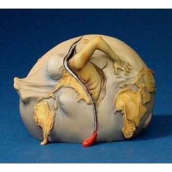 Figurine Artistique Salvador Dali Enfant géopolitique observant la naissance de l\'homme nouveau PM -SD03