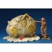 figurine artistique salvador dali enfant geopolitique observant la naissance de homme nouveau gm sd10