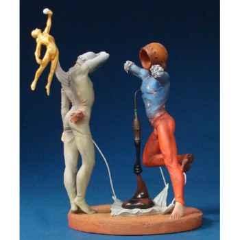Figurine Artistique Salvador Dali Poésie d'Amérique – Les Athlètes cosmiques -SD11