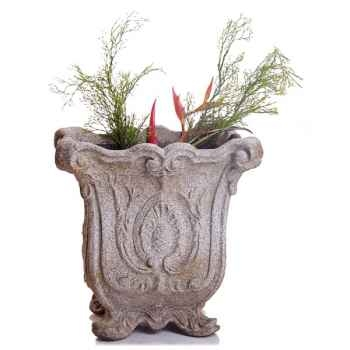 Vases-Modèle Hereford Planter, surface pierre romaine-bs3036ros