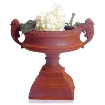 Vases-Modèle French Planter, surface marbre vieilli-bs3027ww