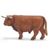 figurine schleich animaux de la ferme taureau highland 13658