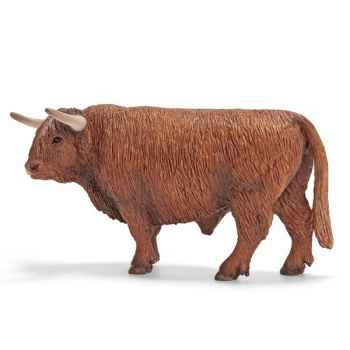 Figurine Schleich Animaux de la ferme Taureau Highland -13658
