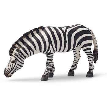 Figurine Schleich Afrique Zèbre broutant -14609