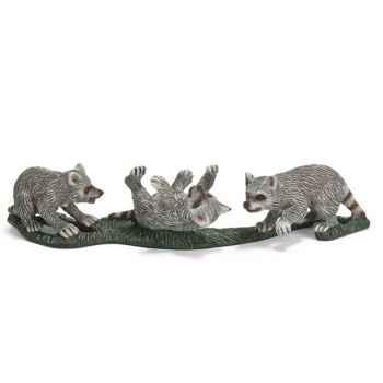 Figurine Schleich Animaux Amérique Bébés raton laveur -14625