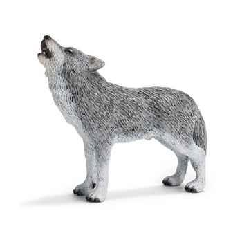 Figurine Schleich Animaux Amérique Loup hurlant -14626