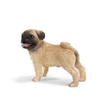 Figurine Schleich chien Carlin mâle -16381