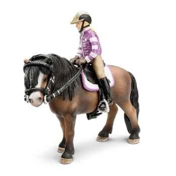 Figurine Schleich Accessoires chevaux Set d'équitation poney -42039