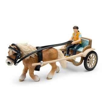 Figurine Schleich Accessoires chevaux Calèche pour poney -42040