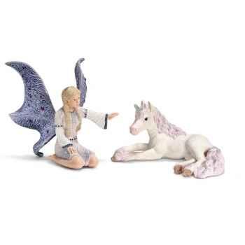 Figurine Schleich Elfes Lindariel avec poulain licorne -70424