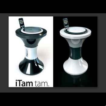 Tabouret Hi Tech Branex Design i Tam Tam blanc -whitem1