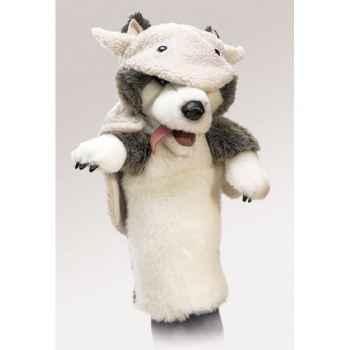 Marionnette peluche Folkmanis Loup déguisé en mouton -2859