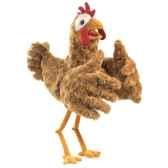 marionnette peluche folkmanis poule 2861