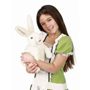 Marionnette peluche Folkmanis Lapin blanc debout -2868