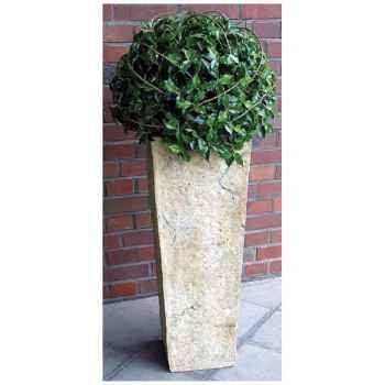 Vases-Modèle Quarry Pedestal Planter Large,  surface granite-bs2147gry