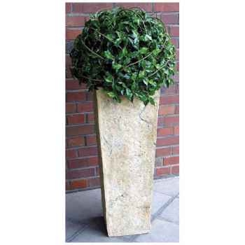 Vases-Modèle Quarry Pedestal Planter, surface marbre vieilli-bs2133ww