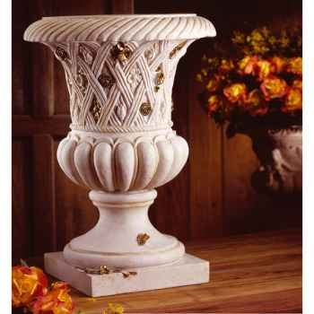 Vases-Modèle Spring Urn, surface marbre vieilli patine or-bs2131wwg